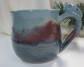 BLUE AND PLUM Bunny Handle Mug Stoneware