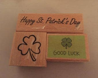 3 St Patrick's Day Rubber stamps