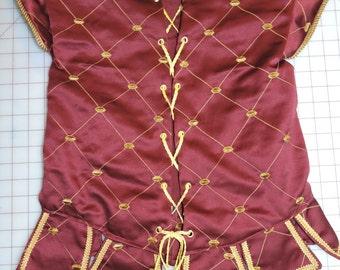 Custom Made Child or Teen Doublet Jerkin waistcoat Vest