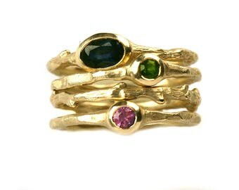 18K Yellow Gold Stackable Ring
