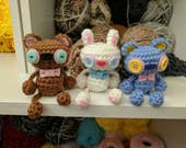 Weird kawaii cute bear bunny plushie crochet amigurumi stuffed animal
