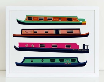 Narrow Boats - London wall art print
