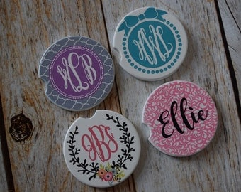 Personalized Car Coaster Monogrammed Car Coaster Personalized Gift