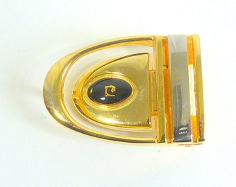 Vintage Pierre Cardin Goldtone Belt Buckle, No Belt Men's  Designer Belt Buckle  Repurpose Belt Buckle 1980s Designer