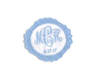 Wedding Dress Label.Wedding Dress Labels.Wedding Dress Patch.Something Blue Wedding Patch.Ornate Frame Dress Label.