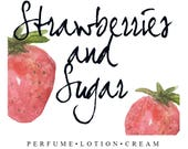 Strawberries & Sugar May's Scent of the Month | Sweet Summer Berry Fragrance | Perfume, Lotion, Cream, Oil, and Scrubs
