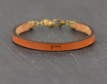 give them grace | faith bracelet | grace | leather bracelet | word bracelet | jewelry with words | inspirational jewelry | laurel denise