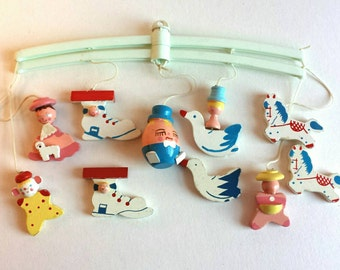 Vintage Irmi Mother Goose Mobile and Additional Parts