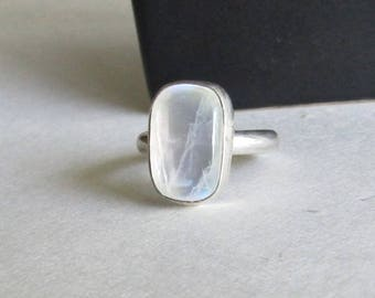 Moonstone Stacking Ring - Size 8 Moonstone Ring - Moonstone Jewelry