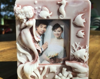 Mermaid Photo Frame - 2d handmade custom soap