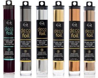 "Deco Foil Transfer Sheet - ""Metals"" Set - 5 sheets each of 6 different colors"