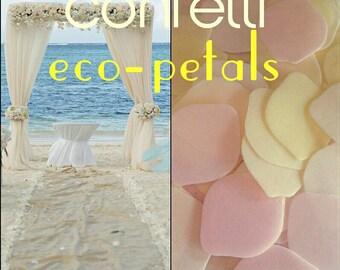 Confetti Rice Paper Petals Biodegradable - DISSOLVE IN WATER - Wedding Toss - Organic - Vintage Pretty