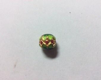 Cloisonné  beads (4 pieces) Drum