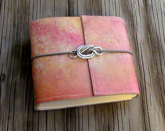 forget me knot pocket journal small size love knot journal, valentine gift by tremundo