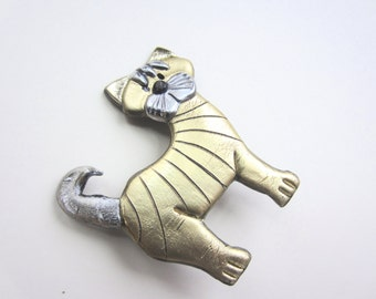 Tabby Cat Pin Brooch