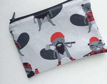 Zippered Snack Bag - Kids Snack Bag - Lunch Pouch - Beavers