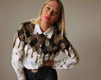 1980s Tassel Blouse >>> Extra Small to Small