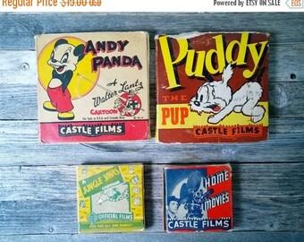 SALE Film Reels 8mm film Cartoons Movie Collectible Cat Kitten cartoons 1940s Andy Panda