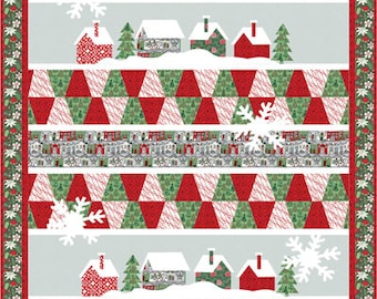 PATTERN MERRY LANE Christmas Quilt with Full-Sized Templates