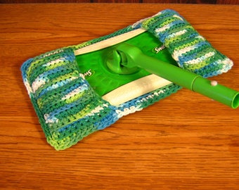 Swiffer Mop Cover, Reusable, Reversible 100% Cotton, Crocheted, Housewares, Cleaning,Dust Mop
