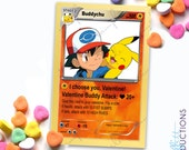 I Choose You Pokemon inspired Valentines card - digital file