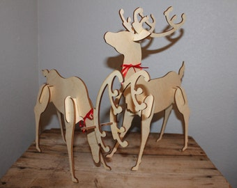 Tabletop Holiday Deer