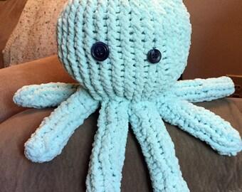 Minty Crochet Knit Stuffed Octopus