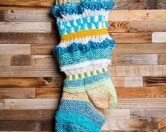 Anthropologie inspired stocking, Christmas Stocking, Christmas Stocking Patterns, Christmas Stocking Design, Christmas Knitting