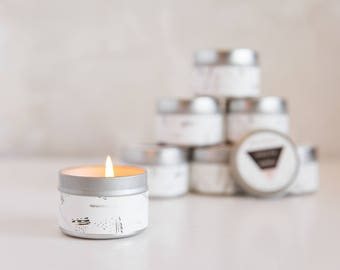 Travel Candle - White Tea + Berries - Soy Wax