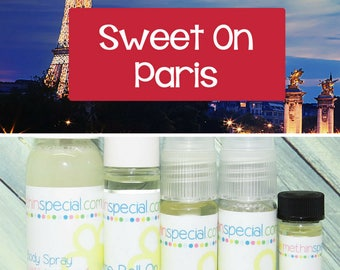 Sweet On Paris Perfume, Perfume Spray, Body Spray, Perfume Roll On, Perfume Sample Oil, Dry Oil Spray, You Choose the Product You Want