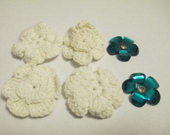 Flower Mix Crochet and Rhinestone Sewing Craft Supplies Jenuine Crafts