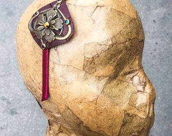 Bronze and Burgundy Flower Band