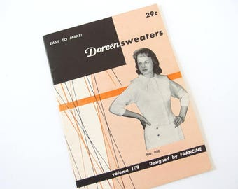Doreen Sweater Hand Knitting Pattern Booklet for Teens, Women and Men