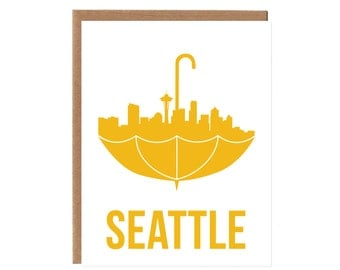Seattle Umbrella Card
