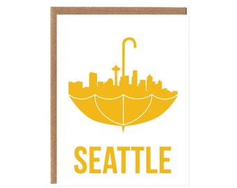 Boxed Set of Six Seattle Umbrella Cards