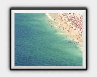 Aerial Beach Photography Print, Beach Print, Beach Photography, Ocean Print, Sea Print