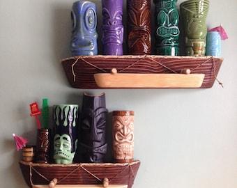 """Outrigger Canoe - Tiki mug Shelf 20"""""""