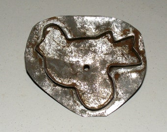 Antique Tin Bird Shaped Handled Cookie Cutter