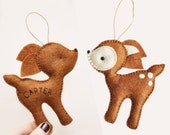 Personalized Deer Christmas Ornament - Baby Shower - Party Favor