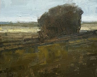 Quiet Afternoon In Rehoboth   Oil Painting   8 x 6