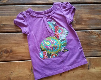 Easter Shirt for Girls, Bunny Shirt, Easter Outfit, Easter Egg Hunt Shirt, Girls Easter Shirt, Ready to Ship Easter Shirt, Girls Shirt