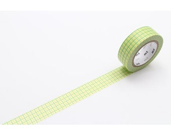 208865 mt Washi Masking Tape deco tape green yellow white square