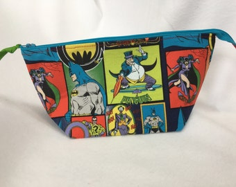 "Batman Zipper Pouch 9"" x 3  1/2"" x 4"""