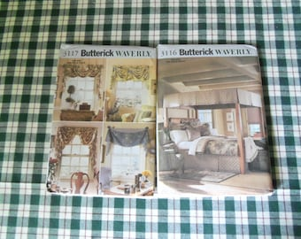 Two Butterick waverly Patterns # 3116 and 3117 One Size Uncut