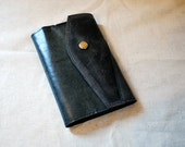 2017 Refillable Navy Leather Planner with Snap