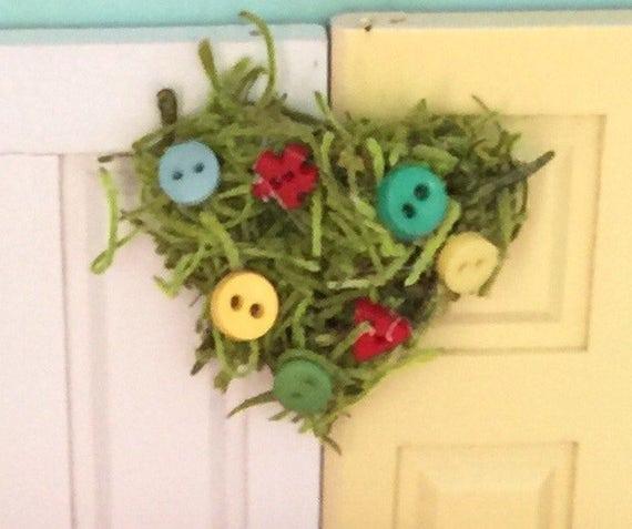 Miniature Heart Shaped Embellished Wreath