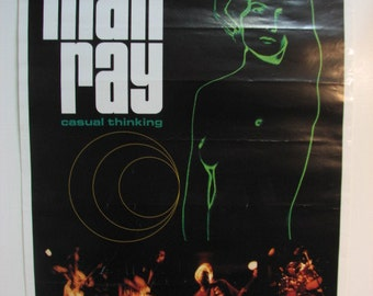 Man Ray Poster of Debut Record Release Party for Casual Thinking, Seattle Grunge Rock 1997