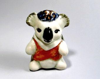 Koala Bear Figurine Handmade Ceramic Sculpture Miniature Animal Totem Australia Collectible