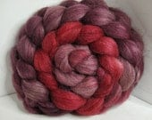 Sale BFL/Tussah/Firestar 50/25/25 Roving Combed Top - 5oz - Beaujolais 2