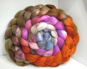 Sale Organic Polwarth/Bombyx 80/20 Roving Combed Top 5oz - Castle Stairs 2